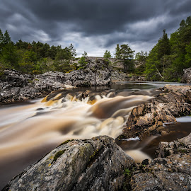 Dreamy water by Haim Rosenfeld - Landscapes Waterscapes ( old, mountain, stone, rock, flow, long, shot, water scape, sky, tree, movement, foreground, colors, image, atmosphere, rivers, highlands, picture, scene, moody, view, bridge, exposure, scotland, stream, europe, colorful, waterfall, land, beauty, landscape, kingdom, long exposure, water, clouds, united, uk, green, scottish, scenic, morning, photo, great, outdoor, brown, scenery, milky, river, britain )