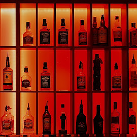 Difficult choice by Mirko Ilić - Food & Drink Alcohol & Drinks ( red, alcohol, drink, bottles, bar,  )