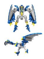Робот трансформируется в Дракона синий M