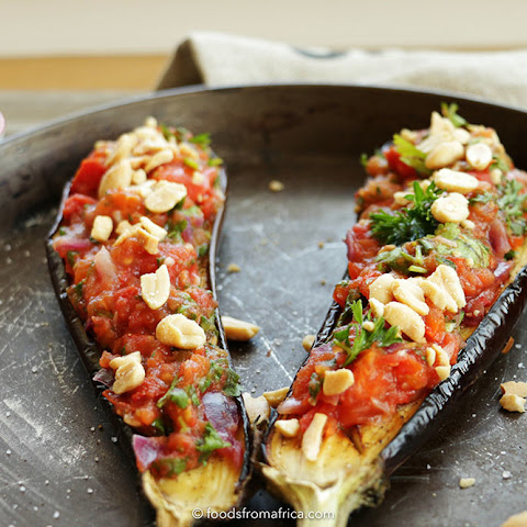 Roasted Eggplant (Aubergine) and Peanut Salsa