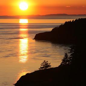 Deception Pass by Brent Monique Makenzie Moran - Landscapes Sunsets & Sunrises ( shore, water, washington, sunset, pacific ocean, pacific, sea, ocean, rocks,  )