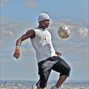 Street-ball by David Van der Smissen - Sports & Fitness Soccer/Association football ( paris, football, streetball, art, france, soccer )