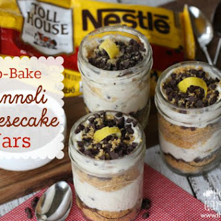No-Bake Cannoli Cheesecake Jars