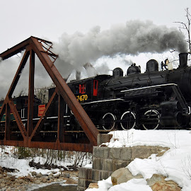 Crossing #4 Iron by Peter Miller - Transportation Trains ( steam in the snow 2 )