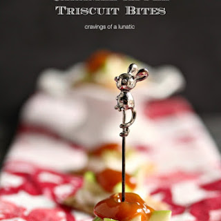 Caramel Apple Triscuit Bites