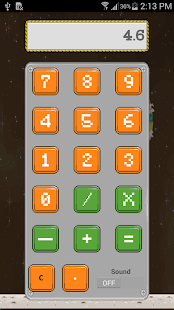 Retro Style Calculator - screenshot