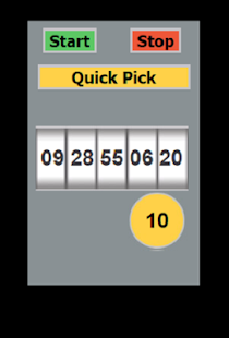 PB Lottery Selector - screenshot