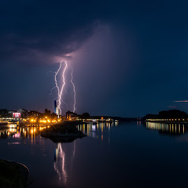 osijek by Zoran Osijek - Landscapes Weather ( thunder, thunderstorm )