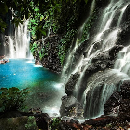 Tinago Falls by Erwin Taghoy - Landscapes Waterscapes ( lagoon, waterfall, falls, forest, landscapes, waterscapes )