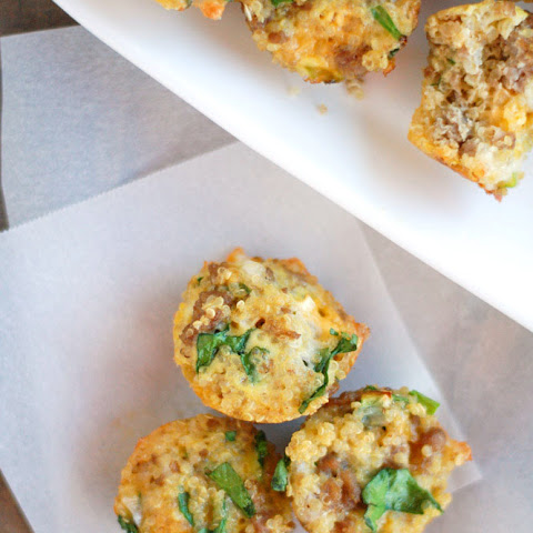 Quinoa, Turkey Sausage, Spinach, Egg and Cheese Mini Cups