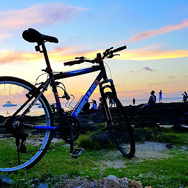 Scenic route by Hayley Moortele - Sports & Fitness Cycling ( #sport, #bikes, #cycling, #beaches, #sunsets )