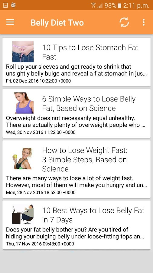 Belly Fat Exercise S Screenshot