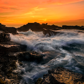 mengening by Raung Binaia - Landscapes Beaches ( sky, nature, waterscape, sunset )