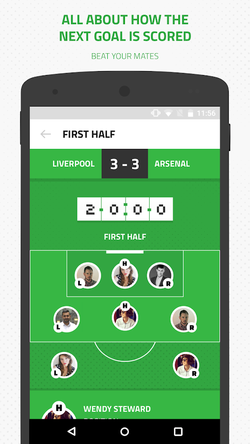 GetIn8 the football gaming app Screenshot 3