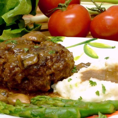 Salisbury Steak {with Mushroom Gravy}