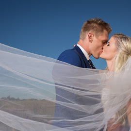 Love by Lodewyk W Goosen (LWG Photo) - Wedding Bride & Groom ( kiss, wedding photography, weddings, wedding, groom and bride, bride and groom, wedding photographer, bride, groom )