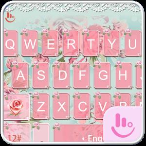 Cover art Pink Flower Keyboard Theme