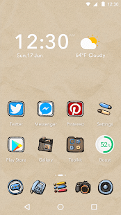 Moustache Theme - Air Launcher - screenshot