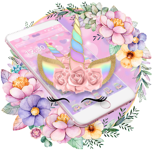 Theme Flower Unicorn Dream For PC / Windows 7/8/10 / Mac – Free Download