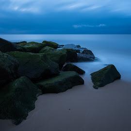 Limitless by Simon Talbot-Hurn - Landscapes Beaches ( water, dawn, d750, blue hour, simon talbot-hurn photography, suffolk, landscape photography, long exposure, beach, nikon, landscape, coast )