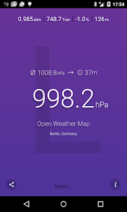 Air Pressure screenshot for Android