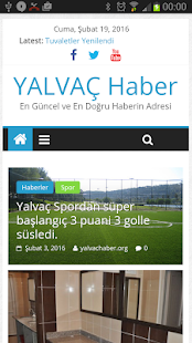 Yalvaç Haber - screenshot