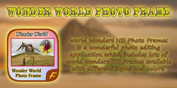 Wonder World Photo Frames - screenshot