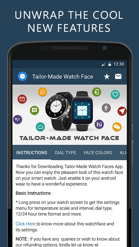 Tailor-Made Watch Face Screenshot 0