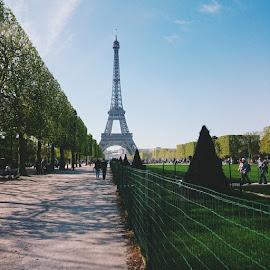 Casual Stroll // Eiffel Tower, Paris ' #4thtime #casual #walk #again #paris #hetherexsnapsandshots #hetherealinstapix #hetherexdigital by Michael Senal - Buildings & Architecture Public & Historical