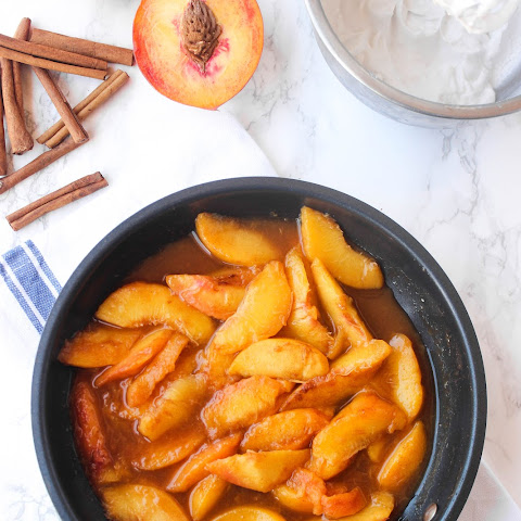Easy Caramelized Skillet Peaches
