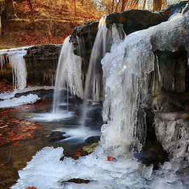IMG_9022HDR by Eric Wellman - Landscapes Waterscapes ( ice, fall, waterfall )