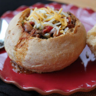 Spicy Southern Chili, served in Bread Bowls