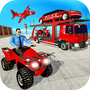US Police Quad Bike Car Transporter Games Online PC (Windows / MAC)