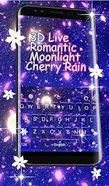 Romantic Moonlight Cherry Rain Keyboard Theme Apk Download Free for PC, smart TV