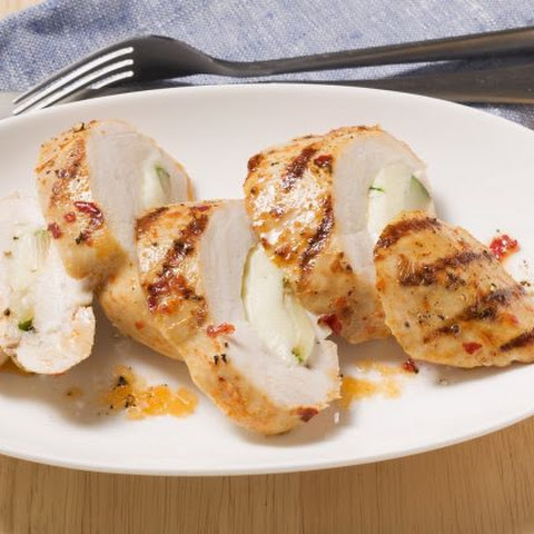 Grilled Chicken Stuffed with Zucchini and Mozzarella