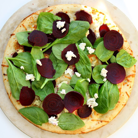 Roasted Beet and Goat Cheese Pizza (200 Calories Per Slice)