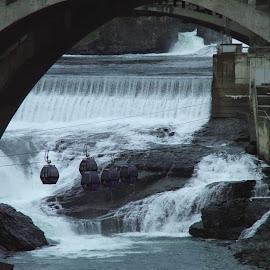 Spokane Falls, Spokane, WA by John Pobursky - City,  Street & Park  Vistas ( washington, skyride, monroe_street_bridge, spokane_falls, spokane )