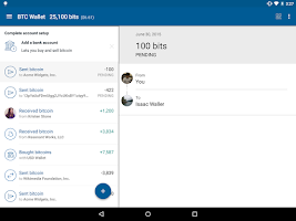 Screenshot of Bitcoin Wallet - Coinbase