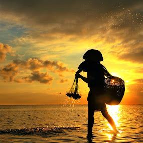 Morning Splash by Alit  Apriyana - Landscapes Sunsets & Sunrises
