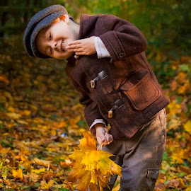 Autumn Joy by Elaine Chong - Babies & Children Child Portraits