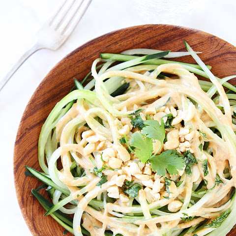 Cucumber Noodles with Peanut Sauce