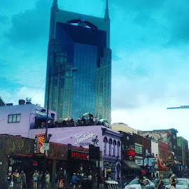 Nashville's Broadway by Jennifer Durham - City,  Street & Park  Street Scenes