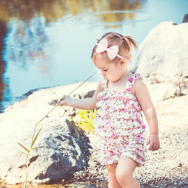 Stella by Jenny Hammer - Babies & Children Children Candids ( girl, outdoors, toddler, cute, pond )
