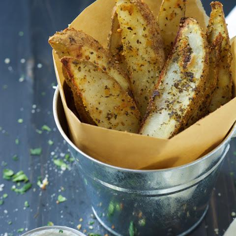 Baked Parmesan Steak Fries with Garlic Aioli Dipping Sauce Recipe ...