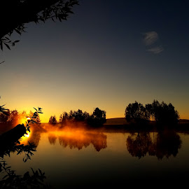 Morning  by D.j. Nichols - Instagram & Mobile Android ( sunrise, pond, sun )