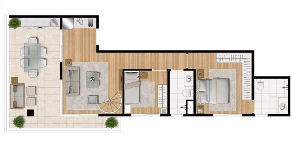 Planta UpHouse Duplex Inferior
