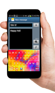 Holi Theme Keyboard - screenshot