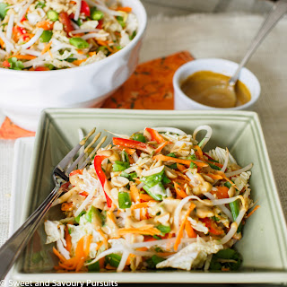 Asian Salad with Peanut Butter Dressing