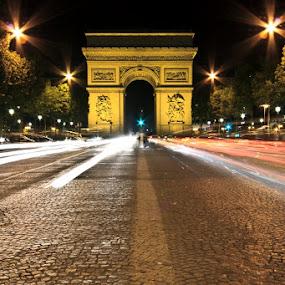 Arc Du Triomphe by Hansen Christian - Buildings & Architecture Statues & Monuments