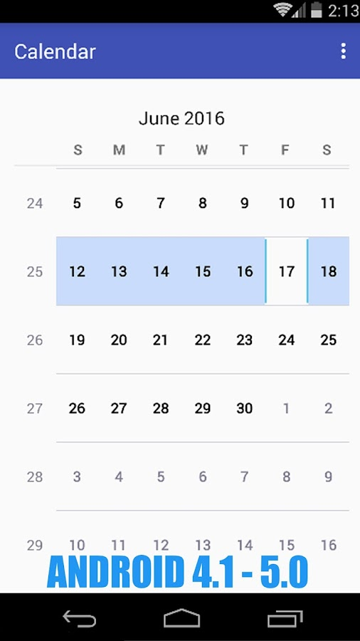 Simple Calendar Pro Screenshot